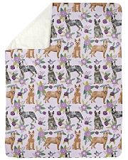 "Australian Cattle Dog 6 Quilts and Blankets Large Sherpa Fleece Blanket - 60"" x 80"" thumbnail"