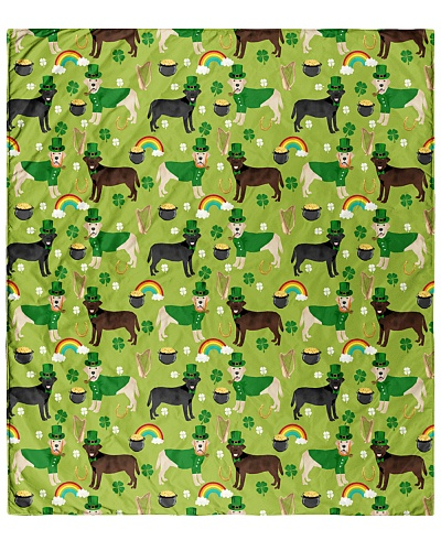 Labrador Retriever St Patrick Day Quilts Blankets