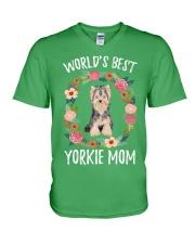 YORKIE MOM V-Neck T-Shirt thumbnail