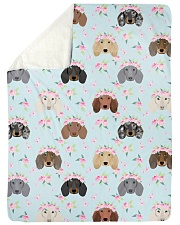 """Dachshund 13 Quilts and Blankets Large Sherpa Fleece Blanket - 60"""" x 80"""" thumbnail"""