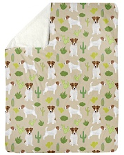 """Jack Russell Terrier 5 Quilts and Blankets Large Sherpa Fleece Blanket - 60"""" x 80"""" thumbnail"""