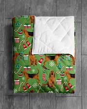 """Bloodhound 3 Quilts and Blankets Quilt 40""""x50"""" - Baby aos-quilt-40x50-lifestyle-closeup-front-04"""