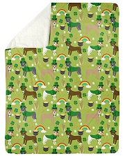 "Pitbull Irish St Patrick Day Quilts and Blankets Large Sherpa Fleece Blanket - 60"" x 80"" thumbnail"