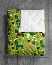 """Pitbull Irish St Patrick Day Quilts and Blankets Quilt 40""""x50"""" - Baby aos-quilt-40x50-lifestyle-closeup-front-04"""