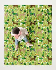 """Pitbull Irish St Patrick Day Quilts and Blankets Quilt 40""""x50"""" - Baby aos-quilt-40x50-lifestyle-front-06"""