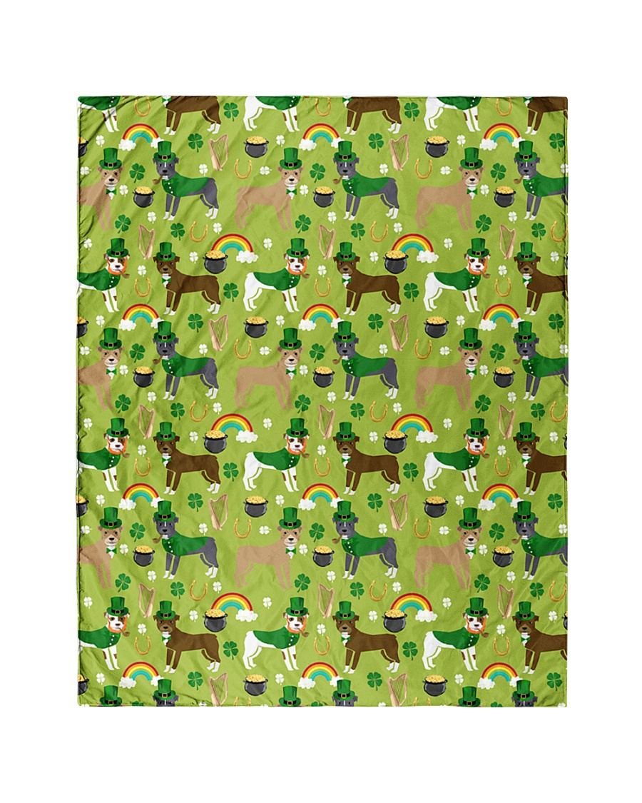 """Pitbull Irish St Patrick Day Quilts and Blankets Quilt 40""""x50"""" - Baby"""