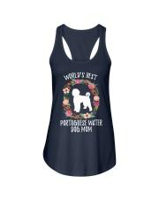 WORLD'S BEST PORTUGUESE WATER DOG MOM TSHIRT Ladies Flowy Tank thumbnail