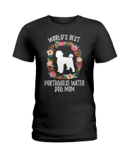 WORLD'S BEST PORTUGUESE WATER DOG MOM TSHIRT Ladies T-Shirt front
