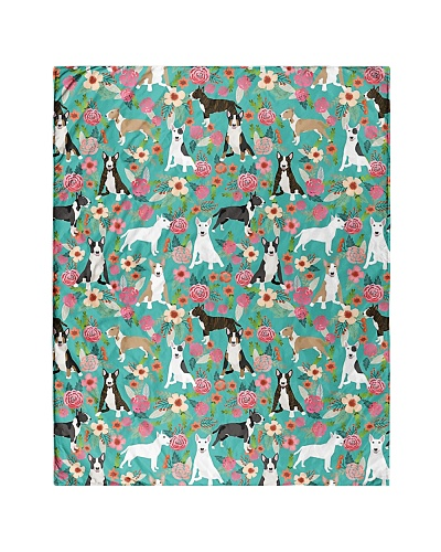 Bully Bull Terrier 1 Quilts and Blankets