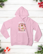 ROUGH COLLIE MOM Hooded Sweatshirt lifestyle-holiday-hoodie-front-3