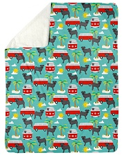 """Pug 53 Quilts and Blankets Large Sherpa Fleece Blanket - 60"""" x 80"""" thumbnail"""