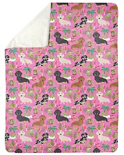 "Dachshund 10 Quilts and Blankets Large Sherpa Fleece Blanket - 60"" x 80"" thumbnail"