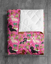 "Dachshund 10 Quilts and Blankets Quilt 40""x50"" - Baby aos-quilt-40x50-lifestyle-closeup-front-04"