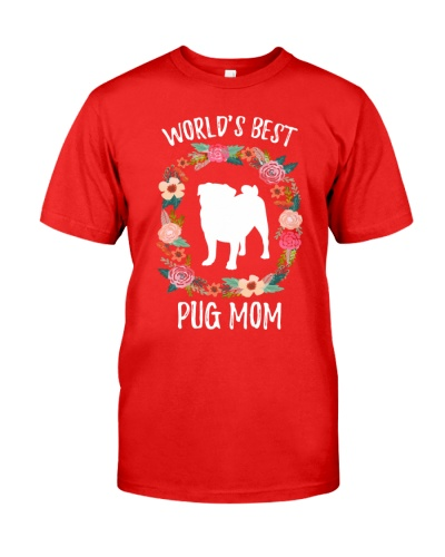 WORLD'S BEST PUG MOM TSHIRT