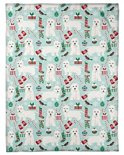 """Westie West Highland White Terrier 2 Quilts Small Fleece Blanket - 30"""" x 40"""" thumbnail"""