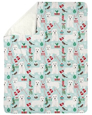 """Westie West Highland White Terrier 2 Quilts Large Sherpa Fleece Blanket - 60"""" x 80"""" thumbnail"""