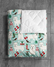 """Westie West Highland White Terrier 2 Quilts Quilt 40""""x50"""" - Baby aos-quilt-40x50-lifestyle-closeup-front-04"""