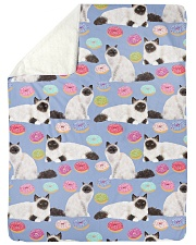 """Birman Cat 3 Quilts and Blankets Large Sherpa Fleece Blanket - 60"""" x 80"""" thumbnail"""
