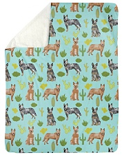 """Australian Cattle Dog 5 Quilts and Blankets Large Sherpa Fleece Blanket - 60"""" x 80"""" thumbnail"""