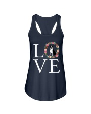 LOVE BOSTON TERRIER Ladies Flowy Tank thumbnail