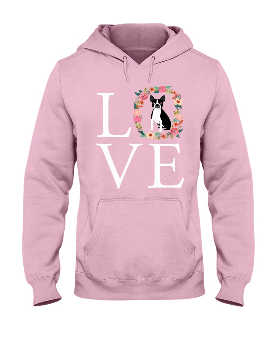 LOVE BOSTON TERRIER Hooded Sweatshirt
