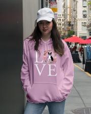LOVE BOSTON TERRIER Hooded Sweatshirt lifestyle-unisex-hoodie-front-5