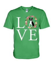 LOVE BOSTON TERRIER V-Neck T-Shirt thumbnail