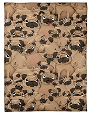 """Pug 21 Quilts and Blankets Small Fleece Blanket - 30"""" x 40"""" thumbnail"""
