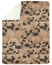 """Pug 21 Quilts and Blankets Large Sherpa Fleece Blanket - 60"""" x 80"""" thumbnail"""