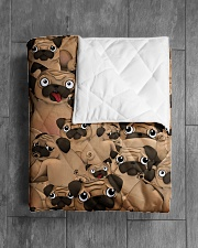 """Pug 21 Quilts and Blankets Quilt 40""""x50"""" - Baby aos-quilt-40x50-lifestyle-closeup-front-04"""