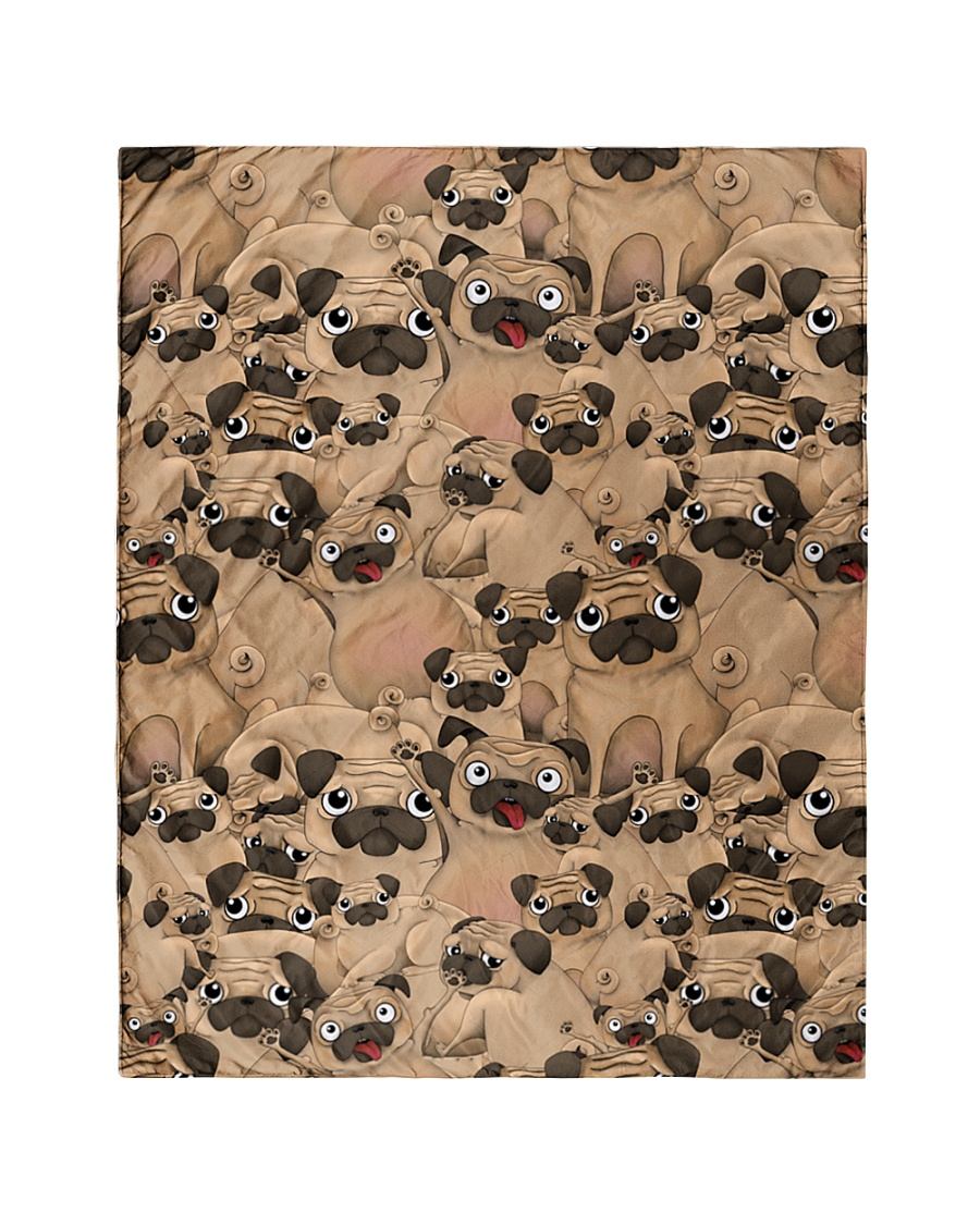 """Pug 21 Quilts and Blankets Quilt 40""""x50"""" - Baby"""