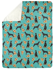 "Doberman Pinscher 2 Quilts and Blankets Large Sherpa Fleece Blanket - 60"" x 80"" thumbnail"