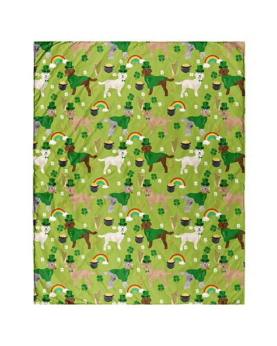 Goldendoodle St Patrick Day Quilts and Blankets