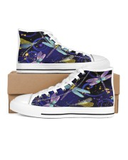 Dragonfly Shoes Women's High Top White Shoes outside-right-inside-right