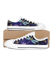 Dragonfly Shoes Women's Low Top White Shoes thumbnail