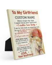 CV - GF0001 - GIFT FOR GIRLFRIEND 8x10 Easel-Back Gallery Wrapped Canvas front