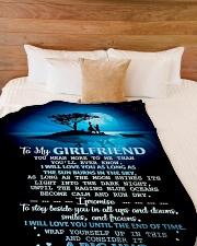 "GF016 Large Fleece Blanket - 60"" x 80"" aos-coral-fleece-blanket-60x80-lifestyle-front-02"