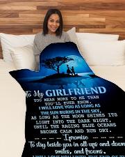 "GF016 Large Fleece Blanket - 60"" x 80"" aos-coral-fleece-blanket-60x80-lifestyle-front-05"