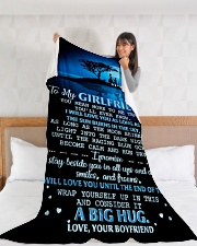 "GF016 Large Fleece Blanket - 60"" x 80"" aos-coral-fleece-blanket-60x80-lifestyle-front-11"