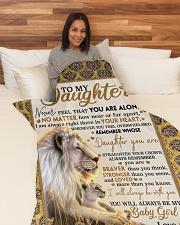 "DD018 Large Fleece Blanket - 60"" x 80"" aos-coral-fleece-blanket-60x80-lifestyle-front-05"