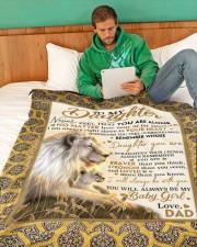 "DD018 Large Fleece Blanket - 60"" x 80"" aos-coral-fleece-blanket-60x80-lifestyle-front-06"
