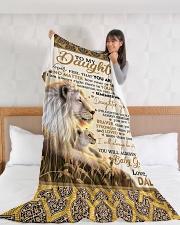 "DD018 Large Fleece Blanket - 60"" x 80"" aos-coral-fleece-blanket-60x80-lifestyle-front-11"