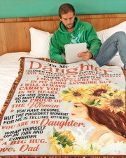 "DD021  Large Fleece Blanket - 60"" x 80"" aos-coral-fleece-blanket-60x80-lifestyle-front-06"