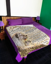 "DU008  Large Fleece Blanket - 60"" x 80"" aos-coral-fleece-blanket-60x80-lifestyle-front-01"