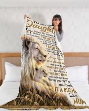 "DU008  Large Fleece Blanket - 60"" x 80"" aos-coral-fleece-blanket-60x80-lifestyle-front-11"