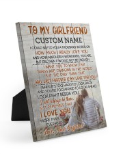 CV - GF0005 - GIFT FOR GIRLFRIEND 8x10 Easel-Back Gallery Wrapped Canvas front