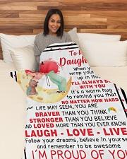 "DU009 Large Fleece Blanket - 60"" x 80"" aos-coral-fleece-blanket-60x80-lifestyle-front-05"