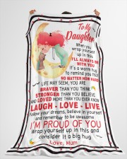 "DU009 Large Fleece Blanket - 60"" x 80"" aos-coral-fleece-blanket-60x80-lifestyle-front-10"