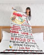 "DU009 Large Fleece Blanket - 60"" x 80"" aos-coral-fleece-blanket-60x80-lifestyle-front-11"