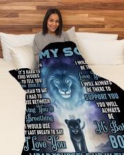 """SU002  Large Fleece Blanket - 60"""" x 80"""" aos-coral-fleece-blanket-60x80-lifestyle-front-05"""